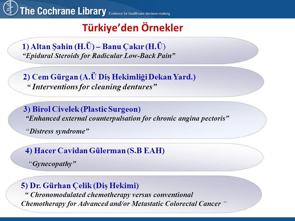 """9 Türkiye'den Örnekler 5) Dr. Gürhan Çelik (Diş Hekimi) """" Chronomodulated chemotherapy versus conventional Chemotherapy for Advanced and/or Metastatic"""