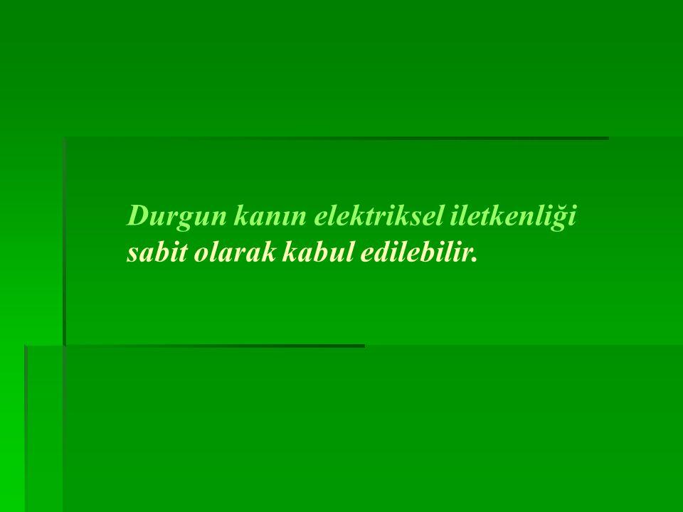 Durgun kanın elektriksel iletkenliği sabit olarak kabul edilebilir.