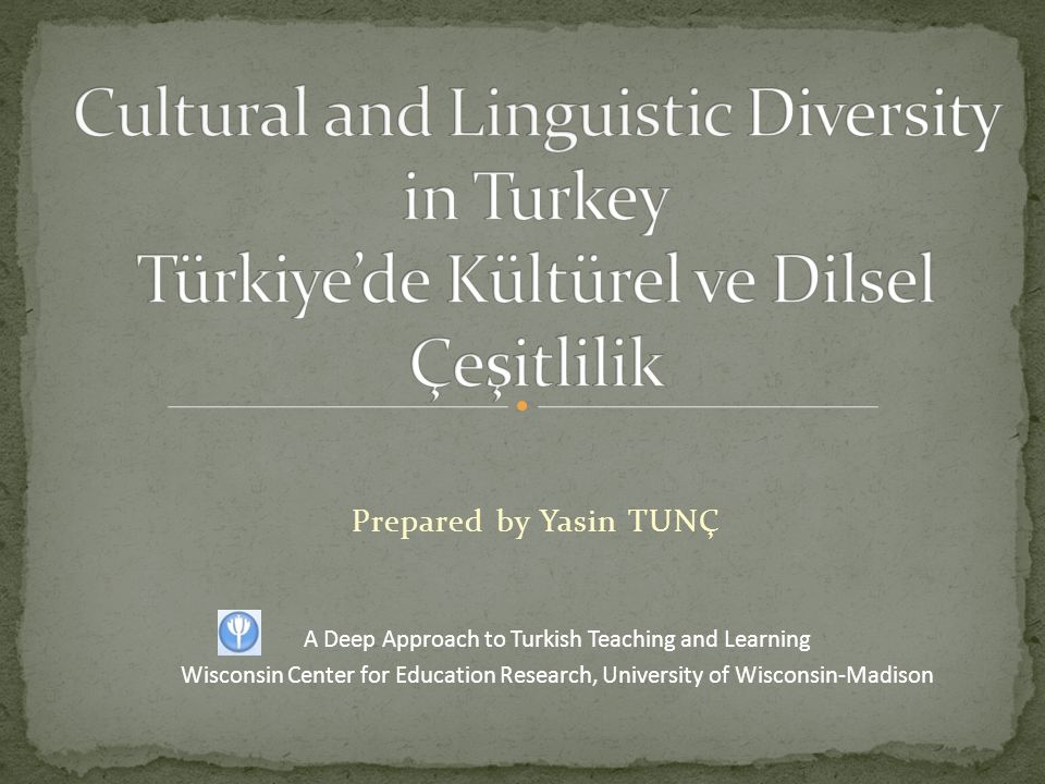 Prepared by Yasin TUNÇ A Deep Approach to Turkish Teaching and Learning Wisconsin Center for Education Research, University of Wisconsin-Madison