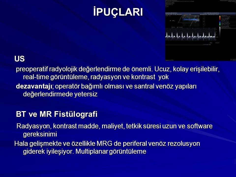 İPUÇLARIUS preoperatif radyolojik değerlendirme de önemli. Ucuz, kolay erişilebilir, real-time görüntüleme, radyasyon ve kontrast yok preoperatif rady