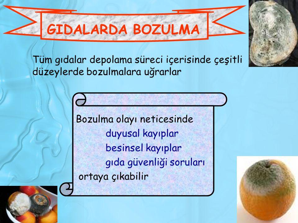 GIDALARDA BOZULMA NEDENLERİ 1.Mikrobiyolojik olmayan bozulmalar 1.1.