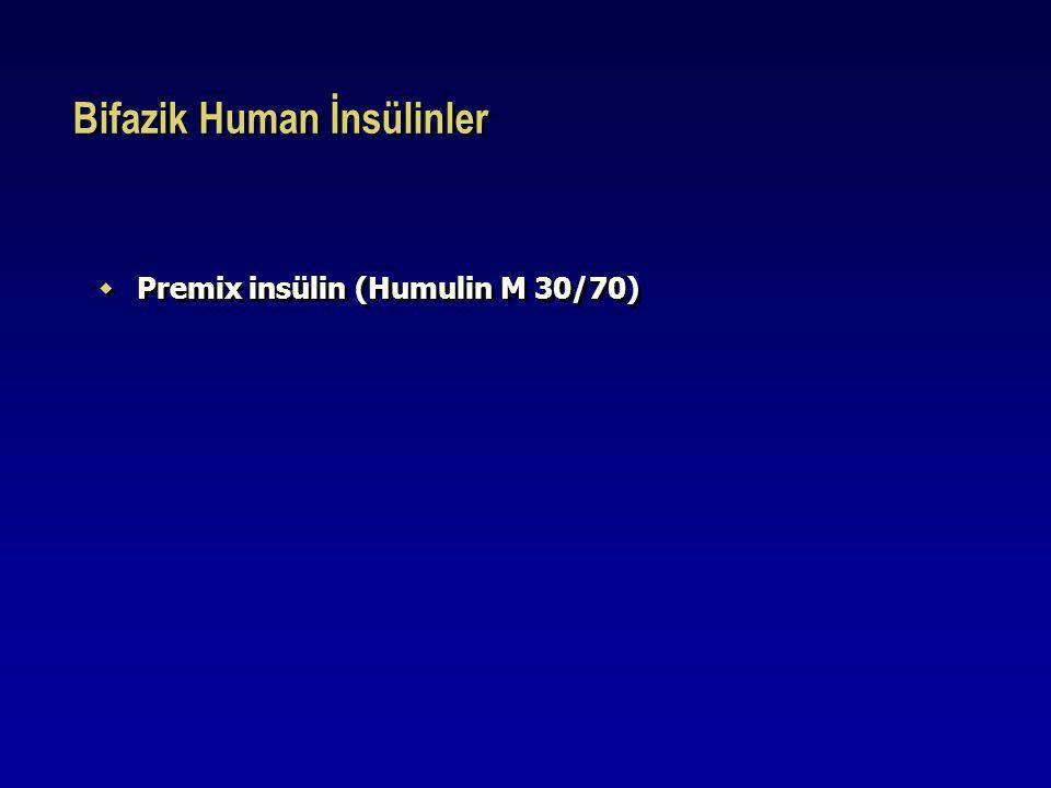 Bifazik Human İnsülinler  Premix insülin (Humulin M 30/70)