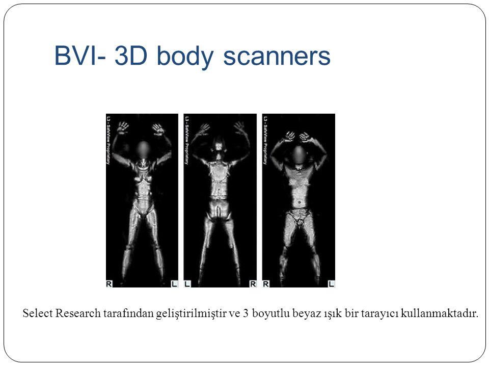 BVI- 3D body scanners Select Research tarafından geliştirilmiştir ve 3 boyutlu beyaz ışık bir tarayıcı kullanmaktadır.