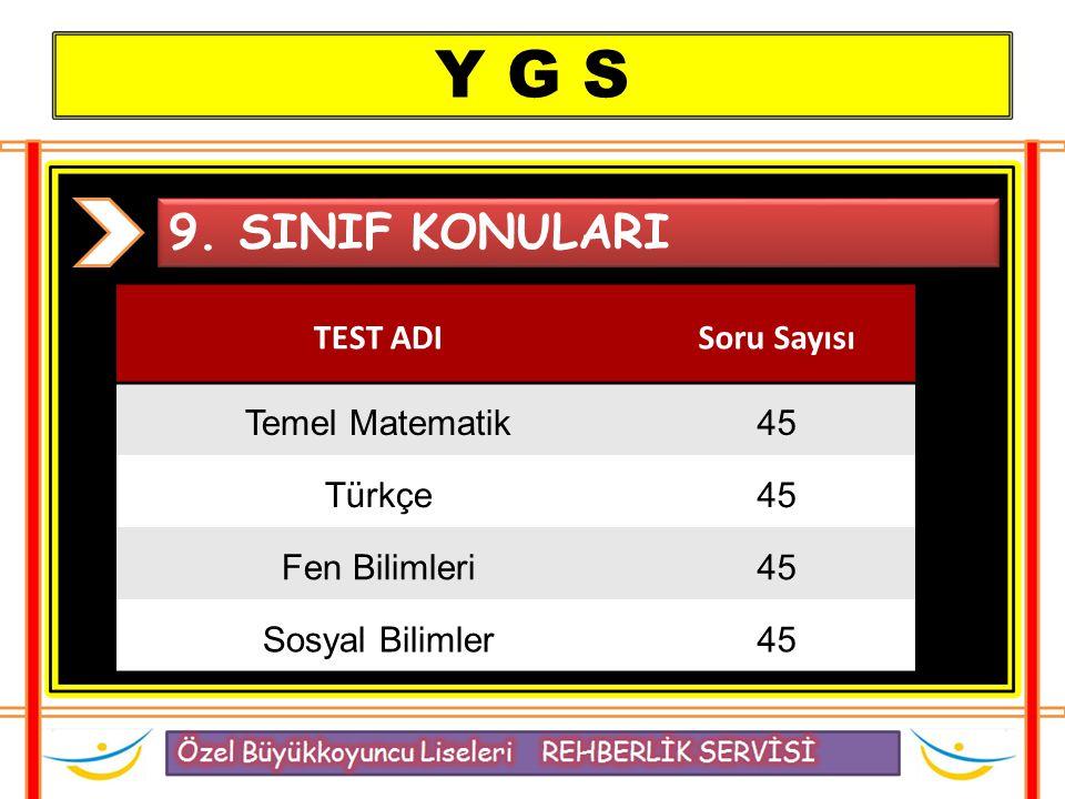 Y G S 9.