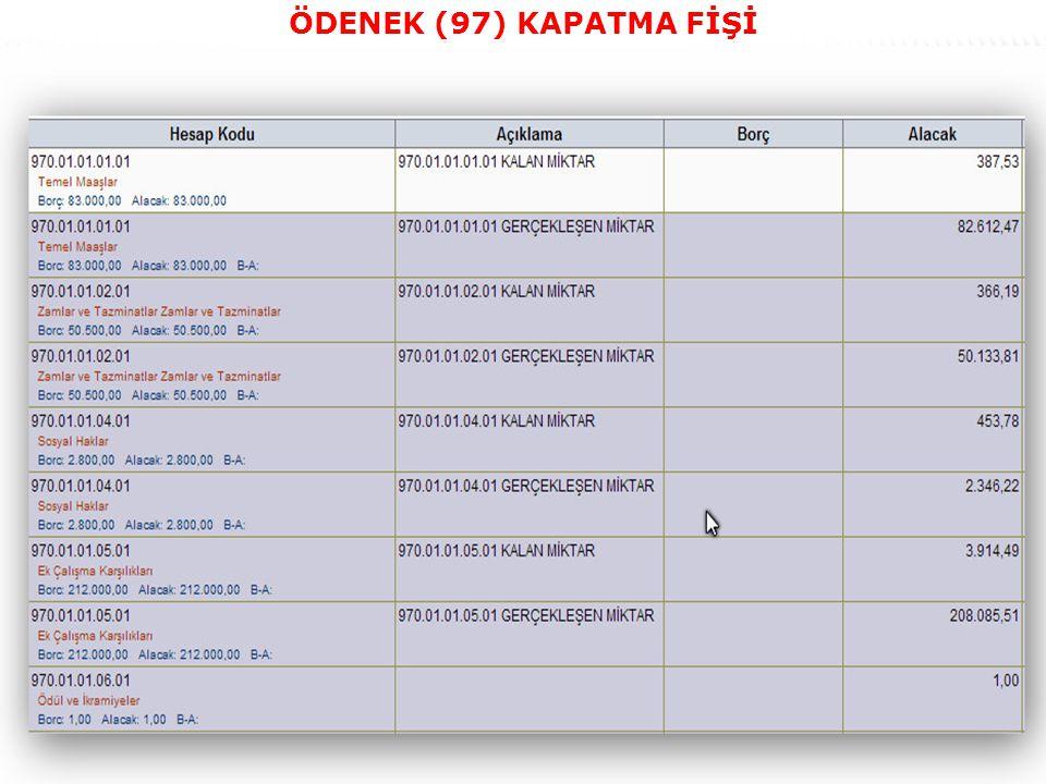 44 ÖDENEK (97) KAPATMA FİŞİ