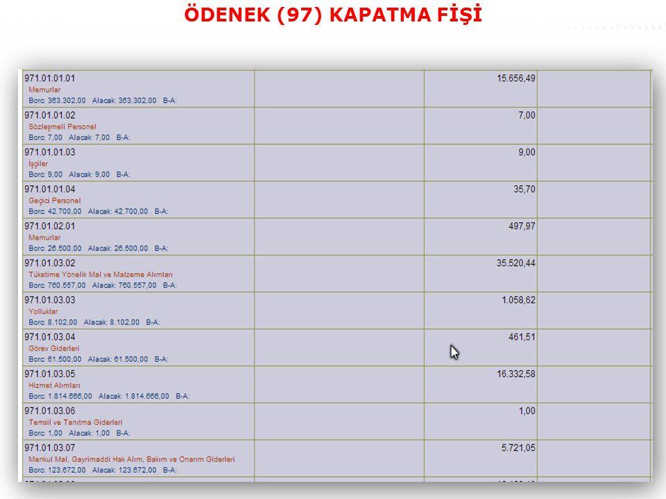 46 ÖDENEK (97) KAPATMA FİŞİ