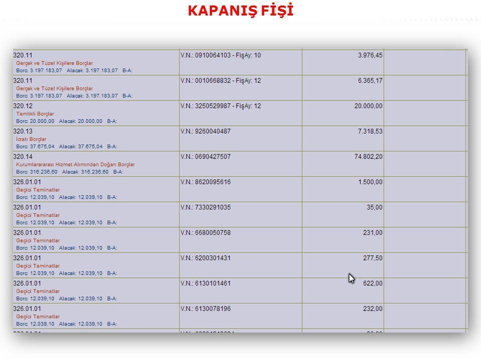 61 KAPANIŞ FİŞİ