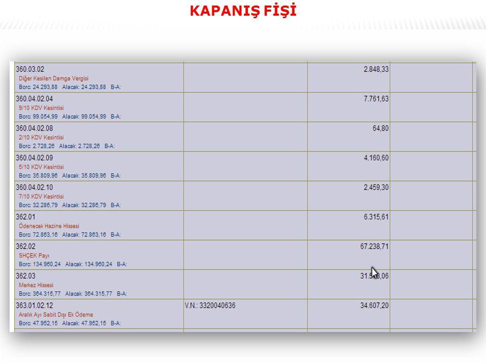 62 KAPANIŞ FİŞİ