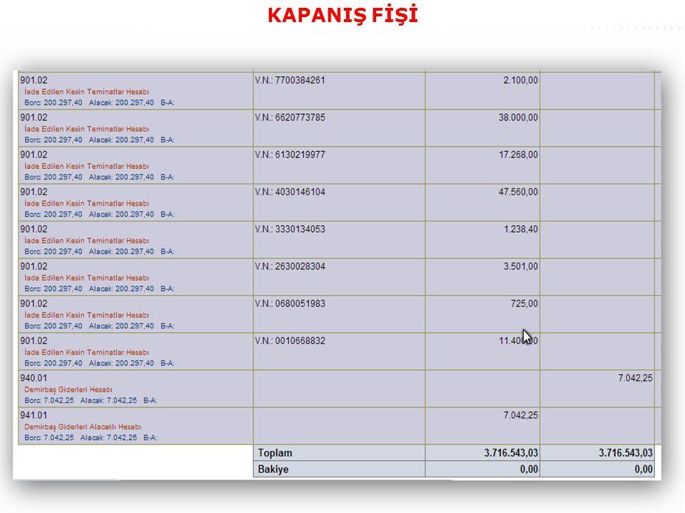 64 KAPANIŞ FİŞİ