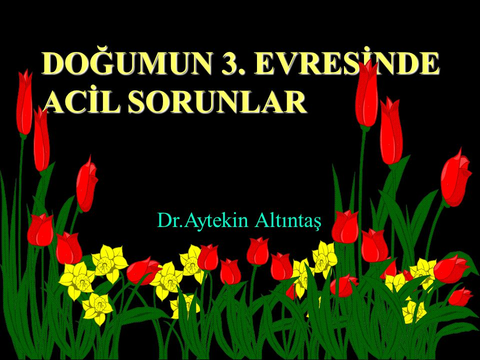 DOĞUMUN 3. EVRESİNDE ACİL SORUNLAR Dr.Aytekin Altıntaş