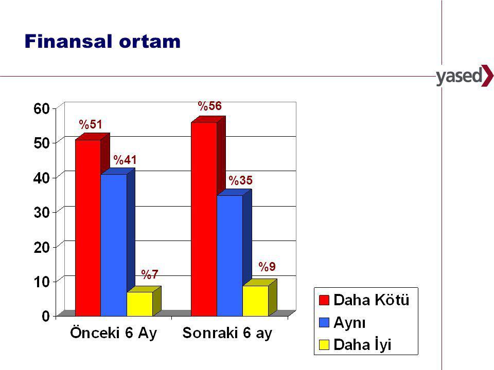 13 www.yased.org.tr Finansal ortam %7 %51 %41 %9 %56 %35