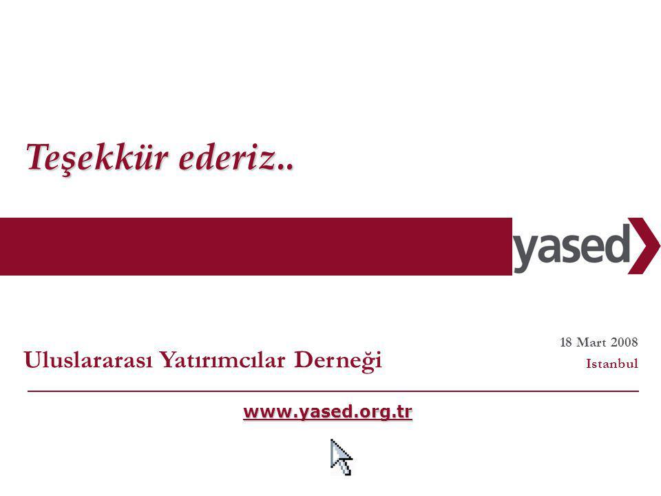 36 www.yased.org.tr Teşekkür ederiz..