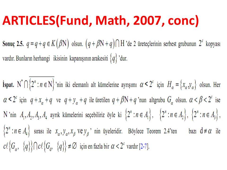 ARTICLES(Fund, Math, 2007, conc)