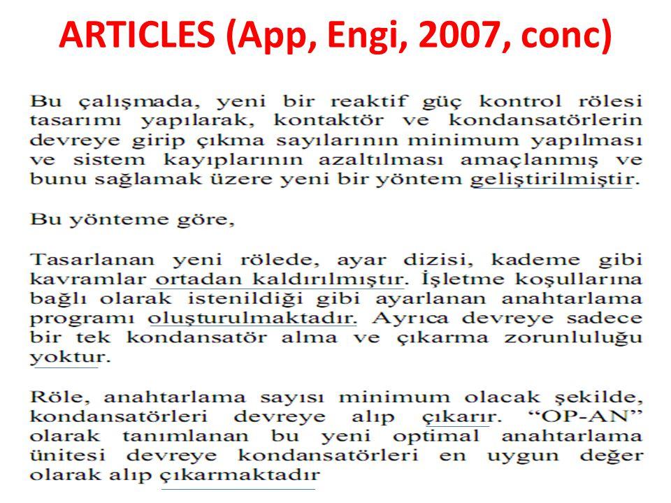 ARTICLES (App, Engi, 2007, conc)