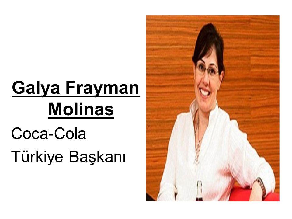 Galya Frayman Molinas Coca-Cola Türkiye Başkanı