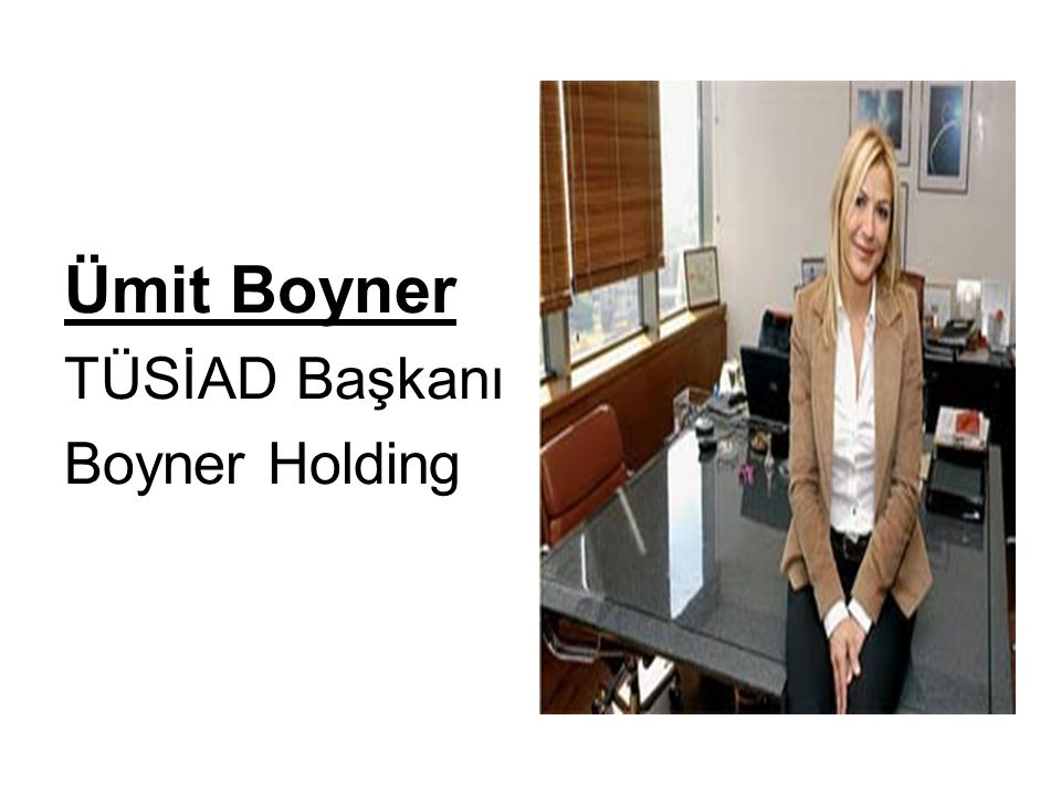 Ümit Boyner TÜSİAD Başkanı Boyner Holding