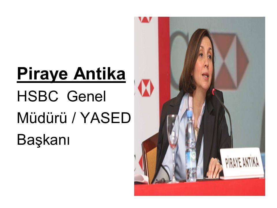 Piraye Antika HSBC Genel Müdürü / YASED Başkanı