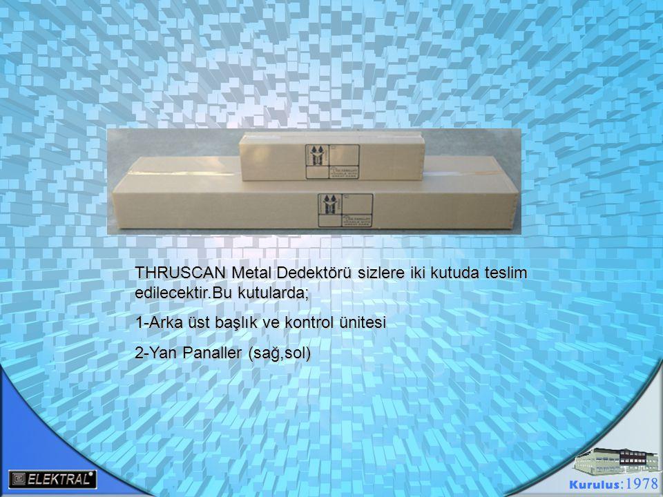 AÇILAN KUTULARDAN ÇIKAN 1-Kontrol Ünitesi 2-Arka Üst Başlık 3-Sağ ve Sol Yan Paneller 4-Kurulum ve besleme için malzemeler Sx-wp modeli için verilen malzemeler s3,s9,sx,sx-i modelleri için verilen malzemeler