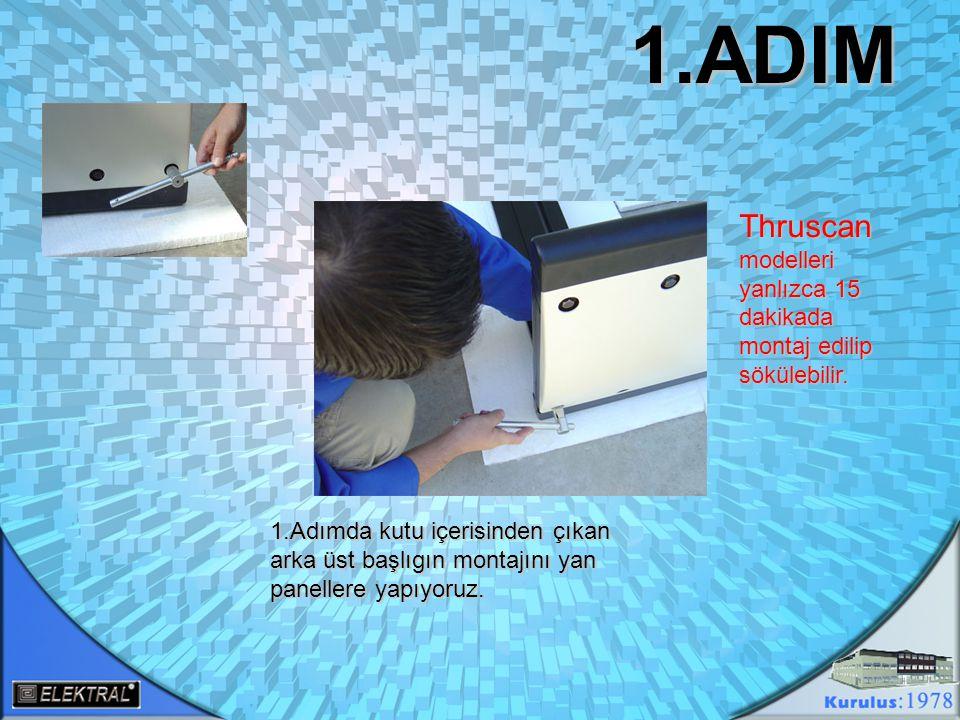 2.ADIM 2.Adımda kontrol ünitesinin arka kapak vidalarını söküyoruz ve panallerden çıkan data kablolarını kontrol ünitesini yan kanallarından geçirip ünite içerisinde topluyoruz.