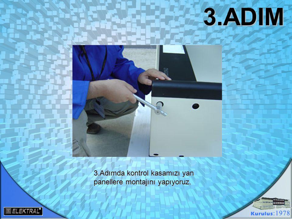 4.ADIM 4.Adımda arka üst başlık ve kontrol ünitesinin panellere sağlam montajını yapıp data kablolarını kontrol ünitesi içinde topladıysak THRUSCAN metal dedektörü kapımızı ayağa kaldırabiliriz.