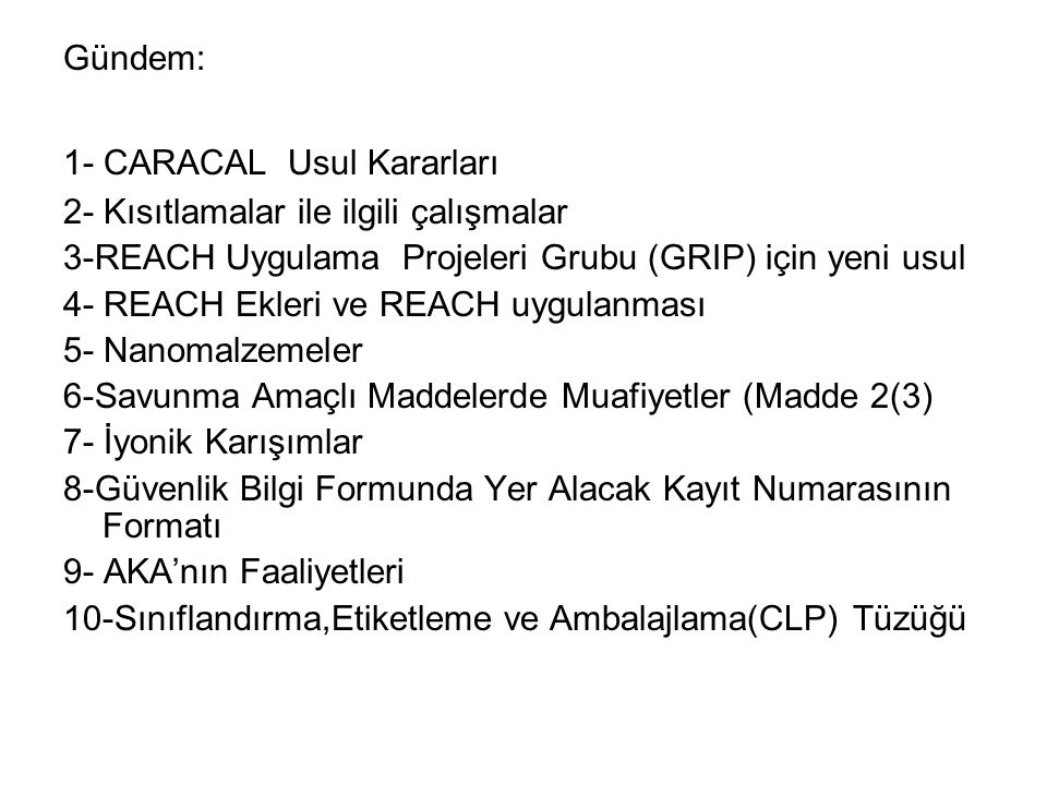 7- İyonik Karışımlar (Deterjan Formulasyonu) İlk Liste Sodium lauryl ether sulphate (Linear) alkylbenzene sulphonic acid Oleic acid Nitrilotriacetic acid (NTA) Phosphoric acid Citric acid Sodium hydroxide Potassium hydroxide Non-ionic surfactant, preservative, dyes, fragrance: do not participate to acid/base equilibria