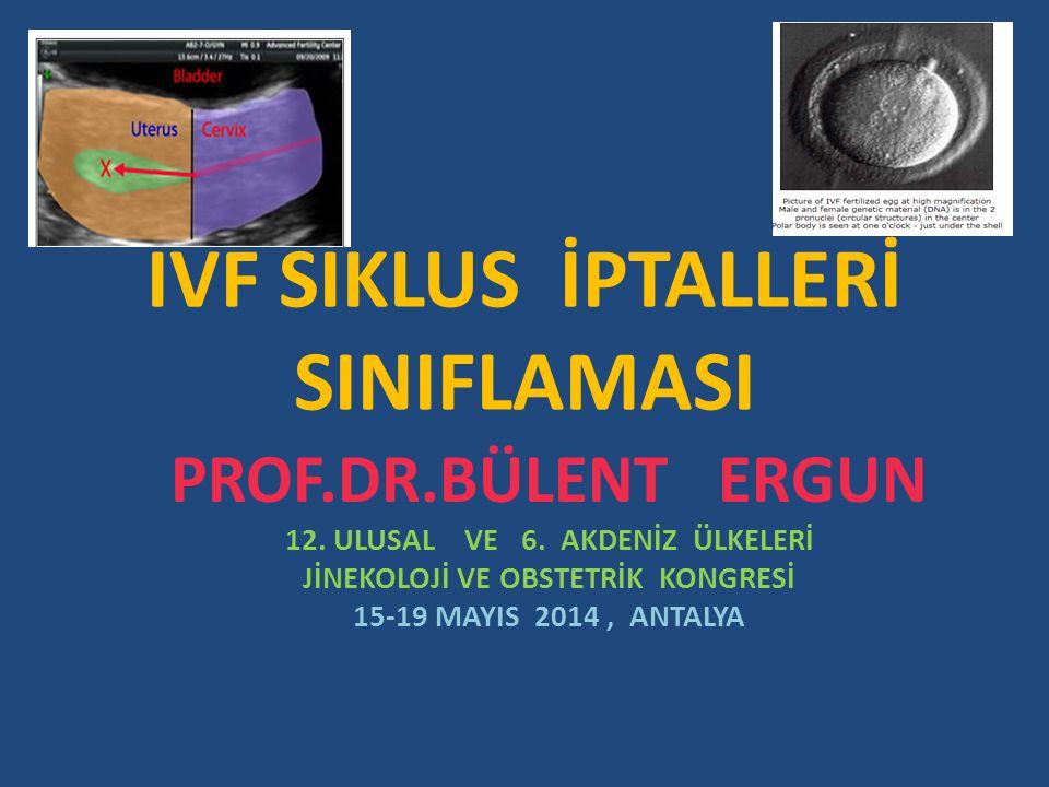 IVF SİKLUS İPTALLERİ 1.KOH İPTALLERİ a.