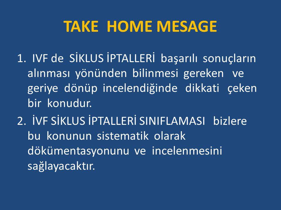TAKE HOME MESAGE 1.