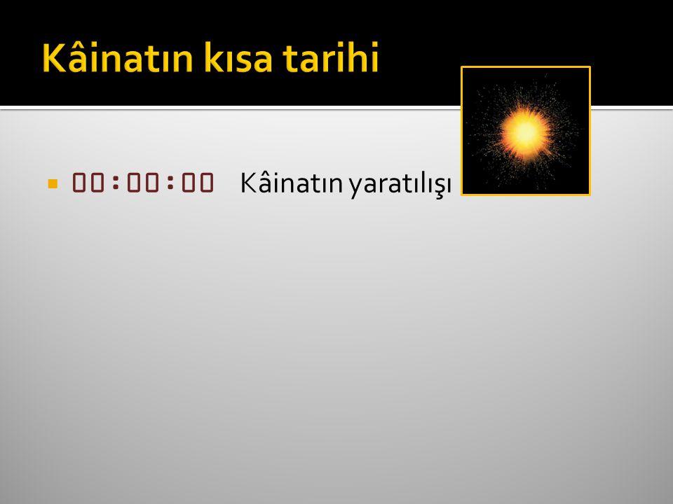  00:00:00 Kâinatın yaratılışı