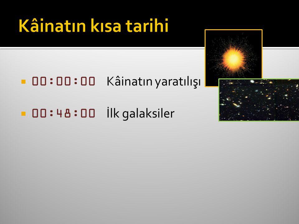  00:48:00 İlk galaksiler