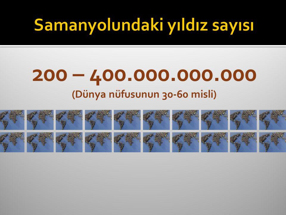 200 – 400.000.000.000 (Dünya nüfusunun 30-60 misli)