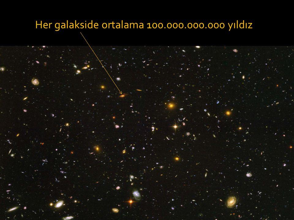 Her galakside ortalama 100.000.000.000 yıldız