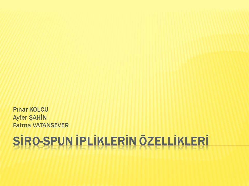 Pınar KOLCU Ayfer ŞAHİN Fatma VATANSEVER