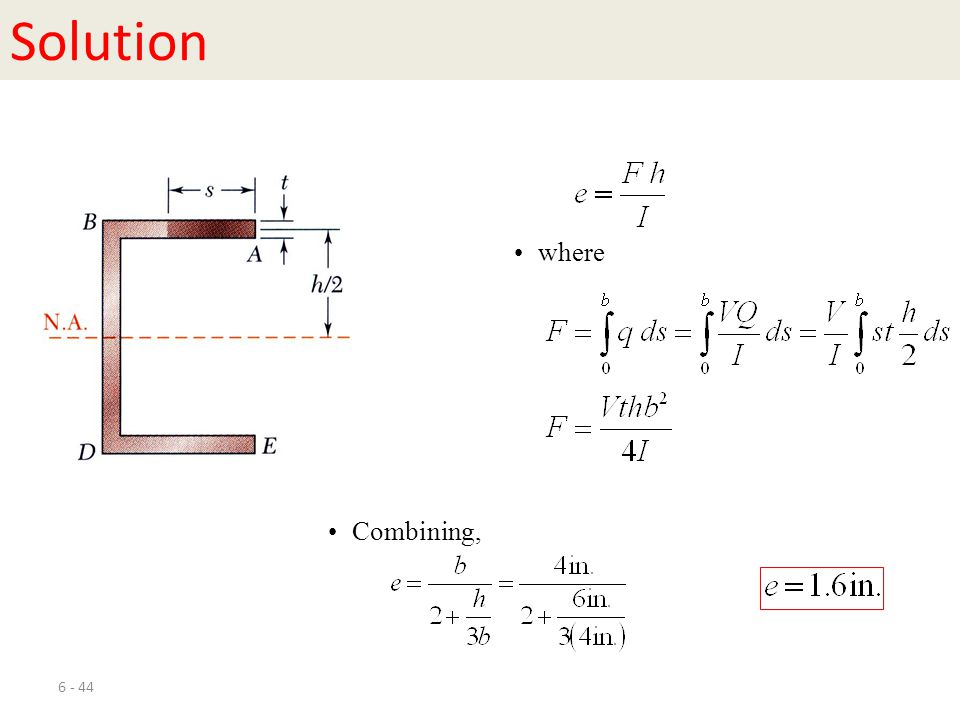 6 - 44 Solution where Combining,