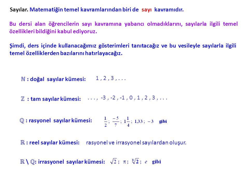 Sayılar. Matematiğin temel kavramlarından biri de sayı kavramıdır. Bu dersi alan öğrencilerin sayı kavramına yabancı olmadıklarını, sayılarla ilgili t