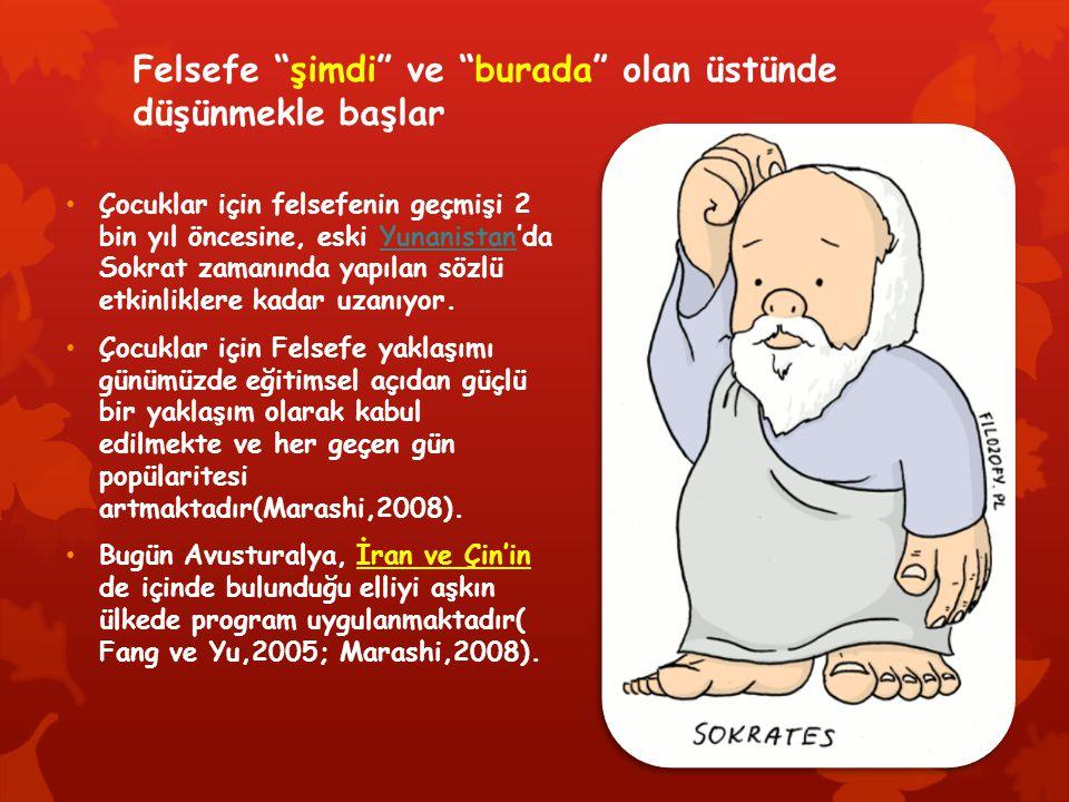 """Felsefe """"şimdi"""" ve """"burada"""" olan üstünde düşünmekle başlar Çocuklar için felsefenin geçmişi 2 bin yıl öncesine, eski Yunanistan'da Sokrat zamanında ya"""