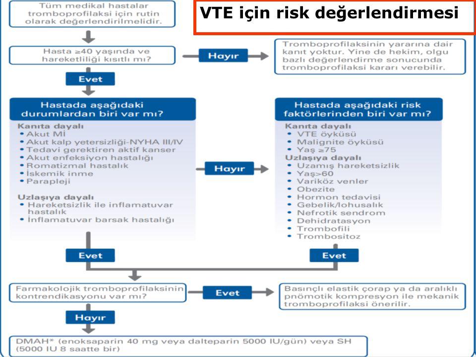 24 VTE için risk değerlendirmesi