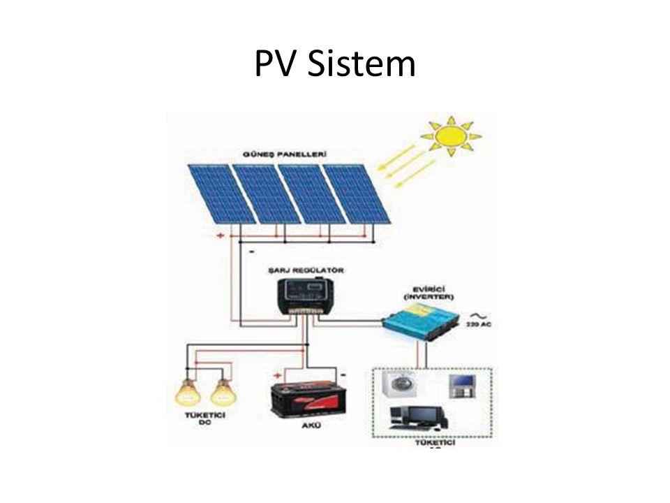 Şebekeden Bağımsız Sistemler: Sistemler tamamen PV modüller tarafından beslenir.