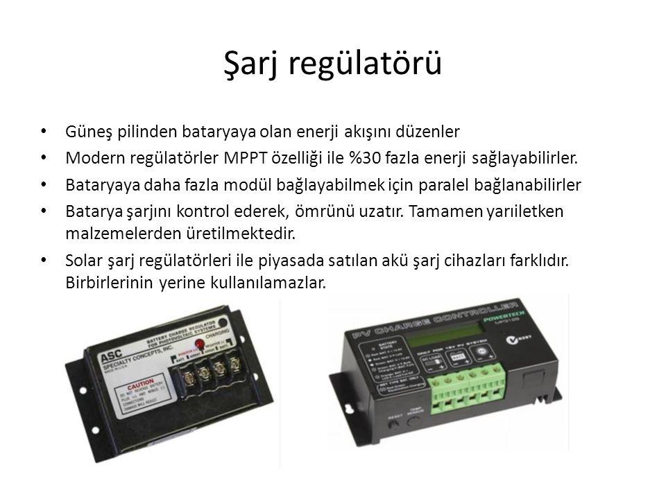 İnvertörler DC akımı AC akıma çevirirler.Verimleri geniş bir güç aralığında yüksek olmalıdır.
