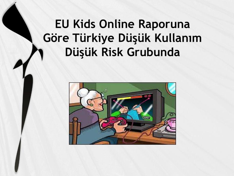 EU Kids Online Raporuna Göre Türkiye Düşük Kullanım Düşük Risk Grubunda
