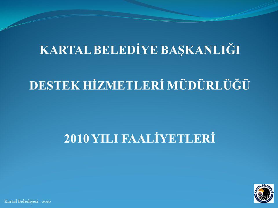 KARTAL BELEDİYE BAŞKANLIĞI DESTEK HİZMETLERİ MÜDÜRLÜĞÜ 2010 YILI FAALİYETLERİ Kartal Belediyesi - 2010