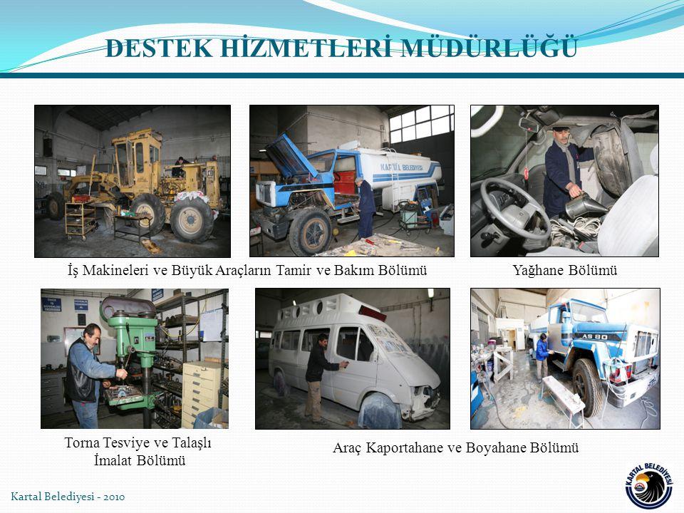 Kartal Belediyesi - 2010 İş Makineleri ve Büyük Araçların Tamir ve Bakım Bölümü Araç Kaportahane ve Boyahane Bölümü Yağhane Bölümü Torna Tesviye ve Ta