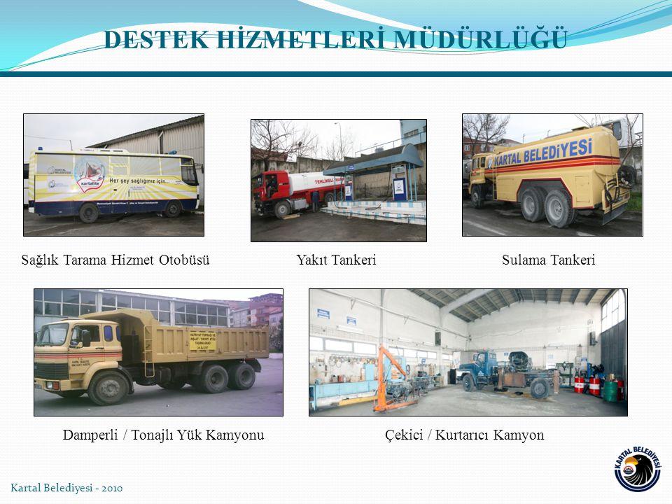 Kartal Belediyesi - 2010 Sağlık Tarama Hizmet OtobüsüYakıt TankeriSulama Tankeri Damperli / Tonajlı Yük KamyonuÇekici / Kurtarıcı Kamyon DESTEK HİZMET