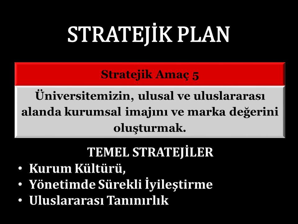 Stratejik Amaç 5 Üniversitemizin, ulusal ve uluslararası alanda kurumsal imajını ve marka değerini oluşturmak.