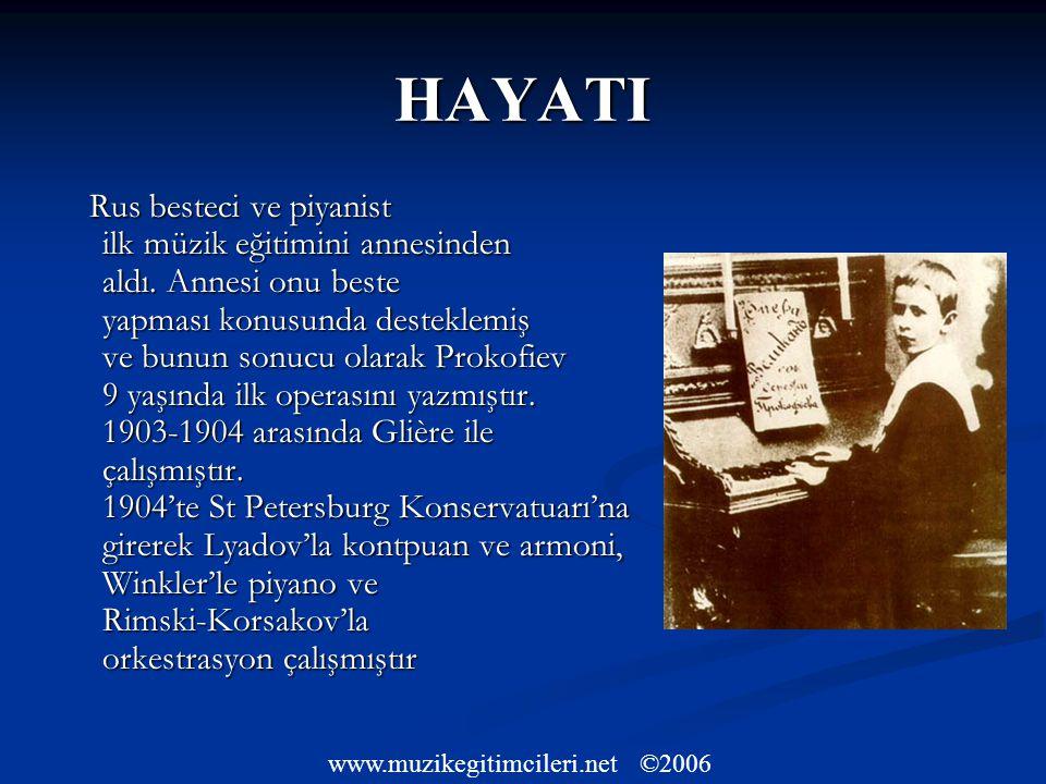 HAYATI Rus besteci ve piyanist ilk müzik eğitimini annesinden aldı.