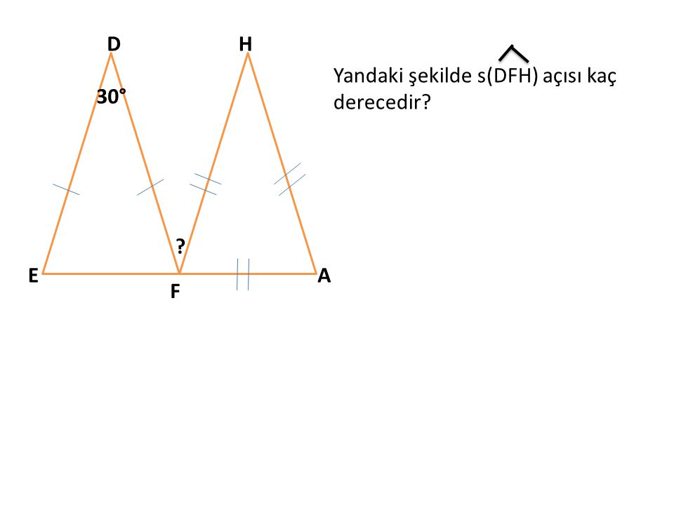 A BC D E F G XY 30° 50° Aşağıdaki s(ACD) ve s(DEF) açılarının toplamı kaç derecedir? (X+Y=?)