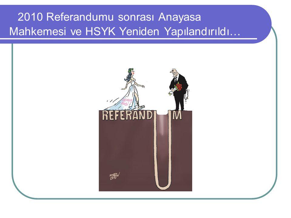 2010 Referandumu sonrası Anayasa Mahkemesi ve HSYK Yeniden Yapılandırıldı…