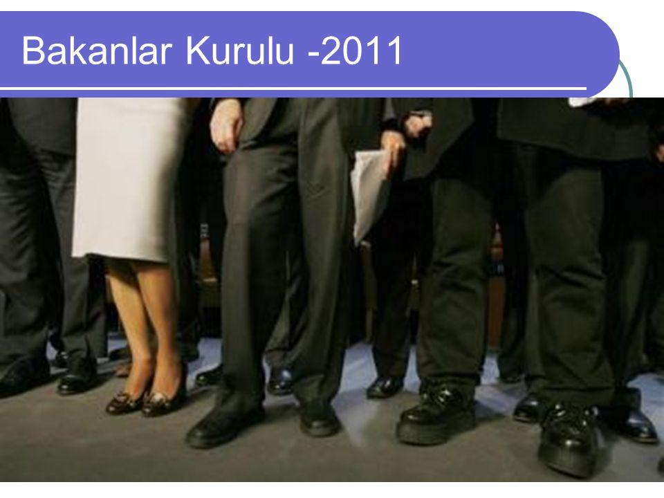Bakanlar Kurulu -2011