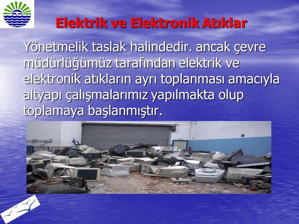 Yönetmelik taslak halindedir. ancak çevre müdürlüğümüz tarafından elektrik ve elektronik atıkların ayrı toplanması amacıyla altyapı çalışmalarımız yap