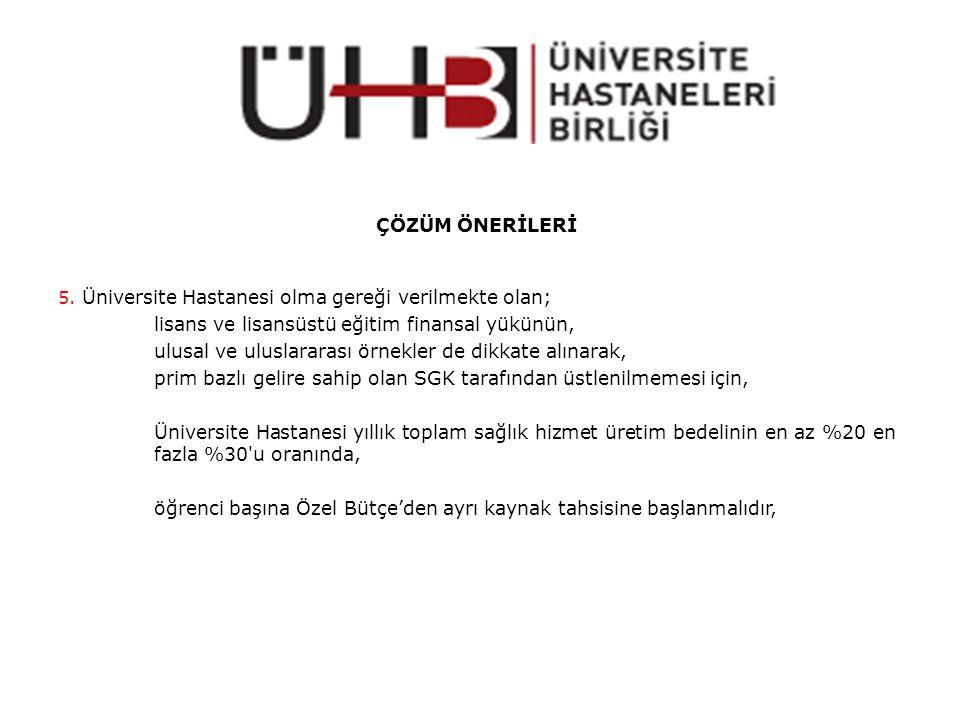 ÇÖZÜM ÖNERİLERİ 5.