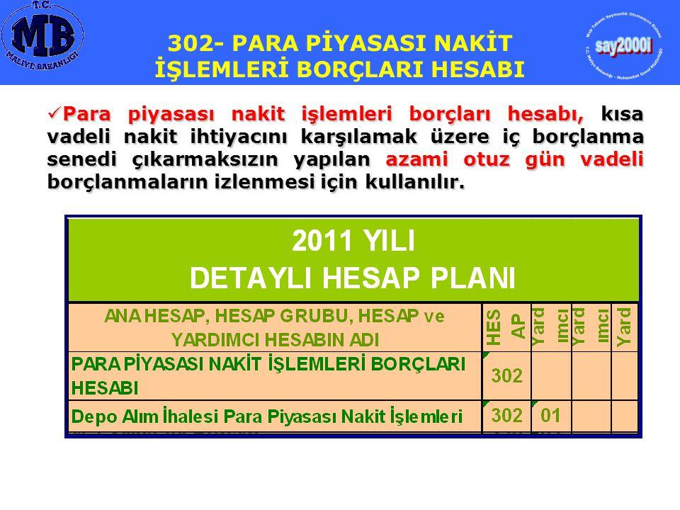 320- BÜTÇE EMANETLERİ HESABI Hazine nakit ihtiyacını karşılamak için, bankalardan 100.000.000,00.-TL borçlanmıştır..